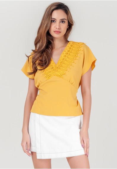 WILD MIMOSA REIDD SHORT SLEEVES TOP