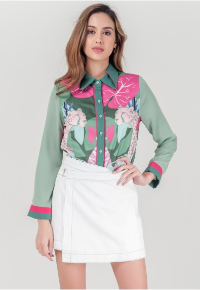 WILD MIMOSA ROSELE LONG SLEEVES TOP