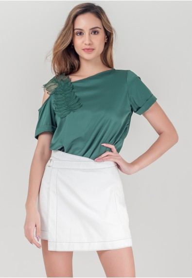 WILD MIMOSA RHAINE SHORT SLEEVES TOP