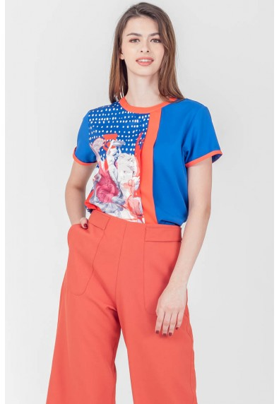 SPRING HARVEST STATHAM SHORT SLEEVES TOP