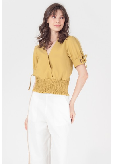 NATURAL TANNAH SHORT SLEEVES TOP