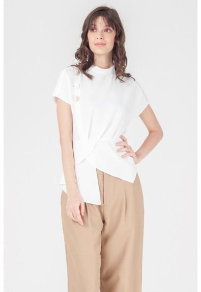 NATURAL TERRYL SHORT SLEEVES TOP