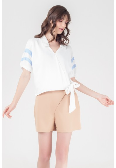 NATURAL TUVA SHORT SLEEVES TOP