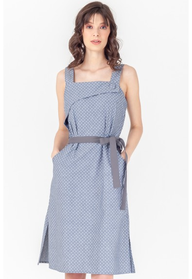 NATURAL THEBE SLEEVELESS DRESS