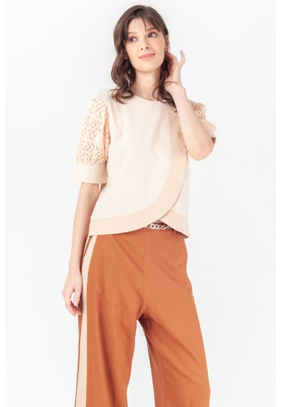 NATURAL TILDE SHORT SLEEVES TOP