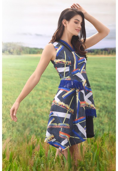 WONDERS OF AFRICA CAPE TOWN SLEEVELESS DRESS