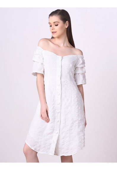 QWERTY LONG SLEEVE DRESS