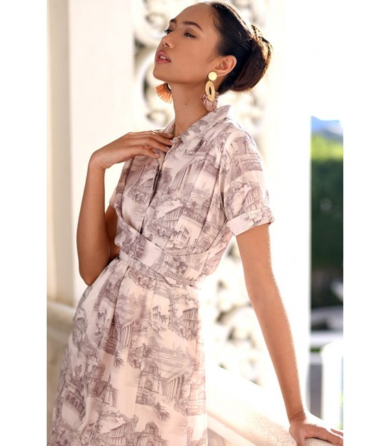 PAMANA INTRAMUROS SHORT SLEEVES DRESS