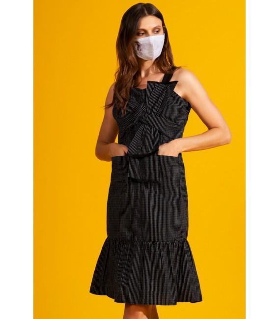 NATURAL TAHOE SLEEVELESS DRESS W/ MASK