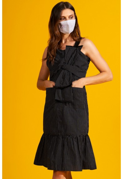 NATURAL TAHOE SLEEVELESS DRESS W/ MASK