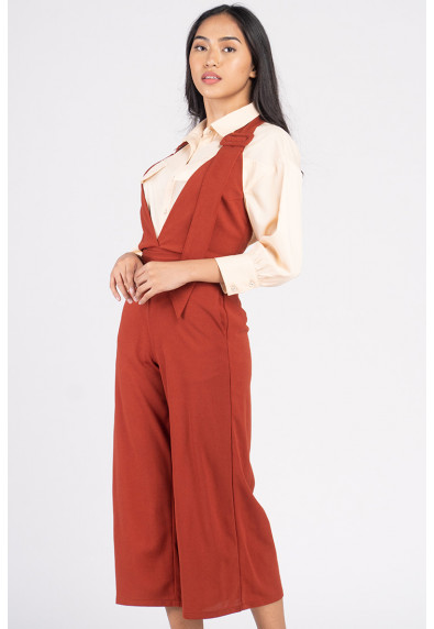 VIVID OPTIMISM VENETTE SLEEVELESS PANTSUIT