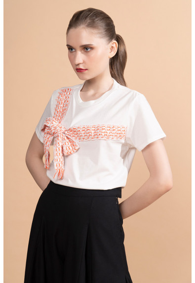 MERRY FESTIVITEES CADEAU SHORT SLEEVES TOP