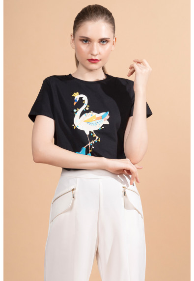 MERRY FESTIVITEES LUMIERE SHORT SLEEVES TOP