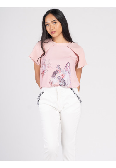 VIVID OPTIMISM VALLY SHORT SLEEVES TOP
