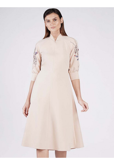 EUPHORIC HOPE RESILIENT QUARTER SLEEVES DRESS