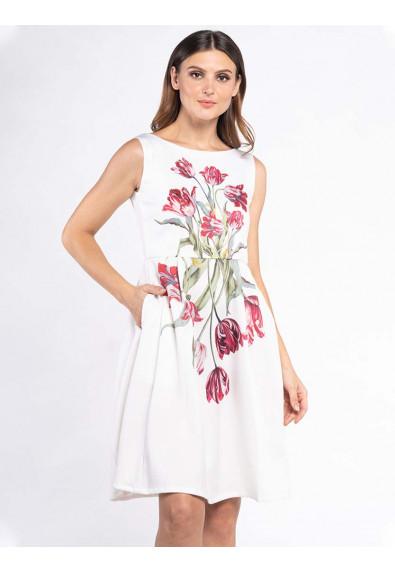 FANCIFUL WANDERLUST XULIANA SLEEVELESS DRESS