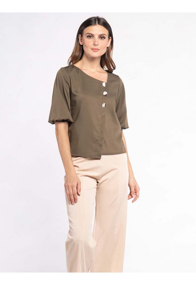FANCIFUL WANDERLUST XOEY QUARTER SLEEVES TOP