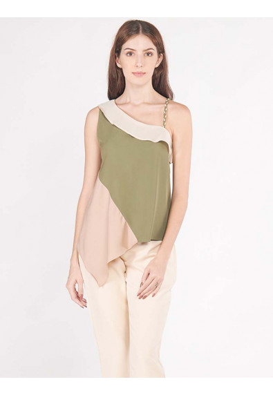 LUSH ISLAND ARALIA SLEEVELESS TOP