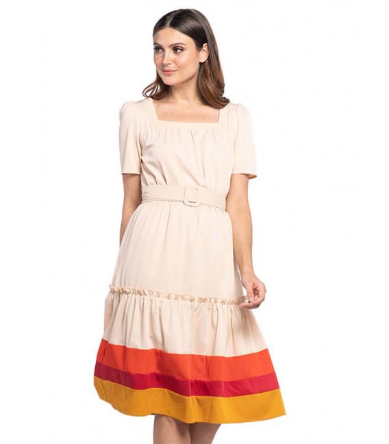 FANCIFUL WANDERLUST XAIRAH SHORT SLEEVES DRESS