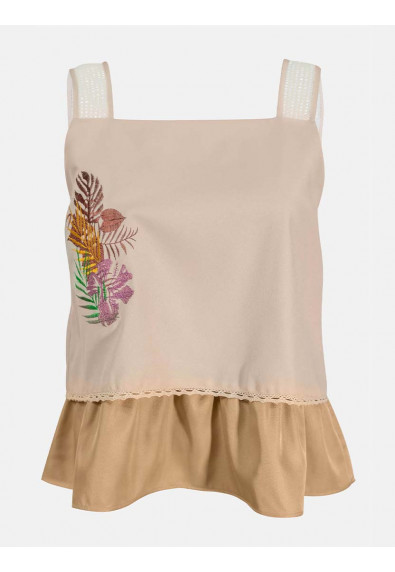 LUSH ISLAND ANTHURIUM SLEEVELESS TOP