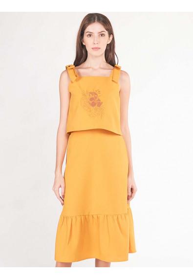 LUSH ISLAND ALYSSUM 2-IN-1 SLEEVELESS DRESS