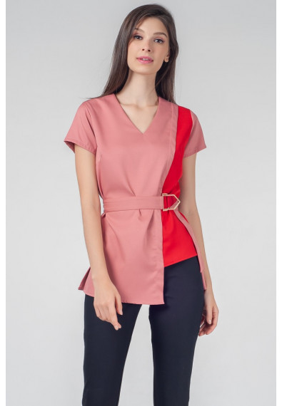 RED CURRANT QUETA SHORT SLEEVES TOP