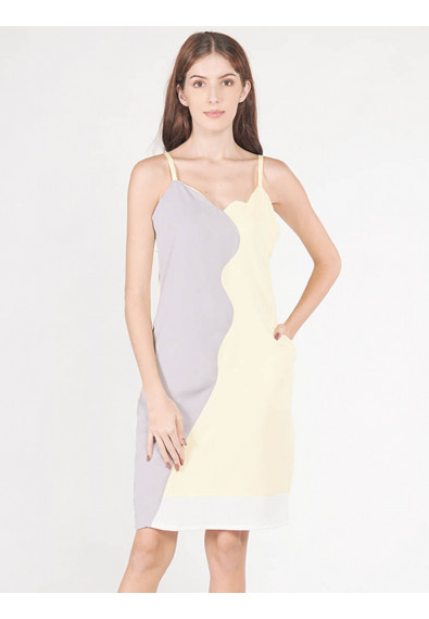EXOTIC ESCAPES BEGONIA SLEEVELESS DRESS