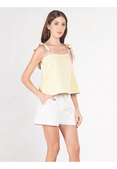 EXOTIC ESCAPES BEGONIA SLEEVELESS REVERSIBLE TOP