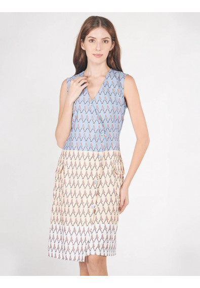 EXOTIC ESCAPES BRUNERA SLEEVELESS DRESS