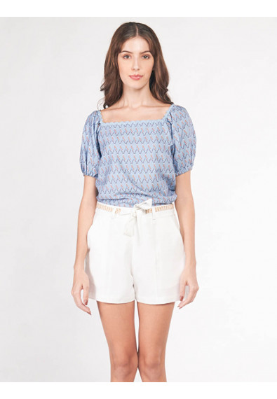 EXOTIC ESCAPES BRUNERA SHORT SLEEVES TOP