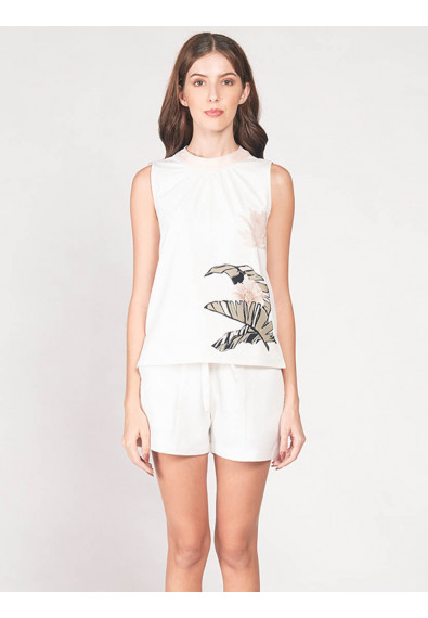 EXOTIC ESCAPES BLETILLA SLEEVELESS TOP