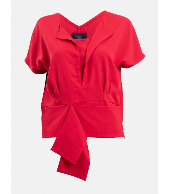 RED CURRANT QUIRIEN SHORT SLEEVES TOP