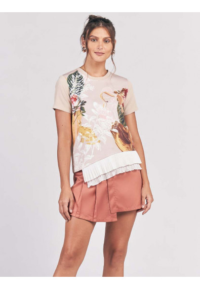 CANVASS SHORT SLEEVES TOP