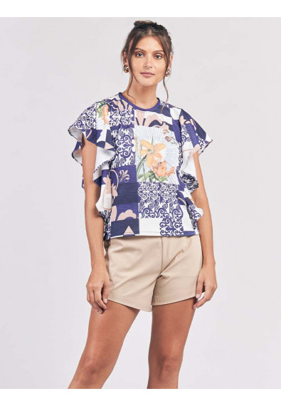 CHATEAU SHORT SLEEVES TOP