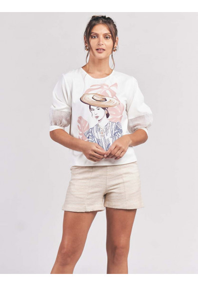 CANAPE QUARTER SLEEVES TOP