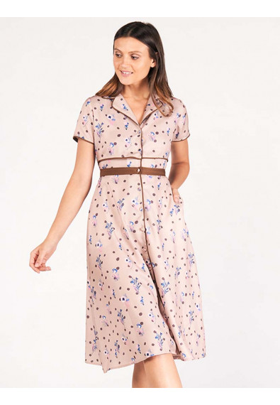 SURVIVE AND THRIVE DHALIA SHORT SLEEVES DRESS