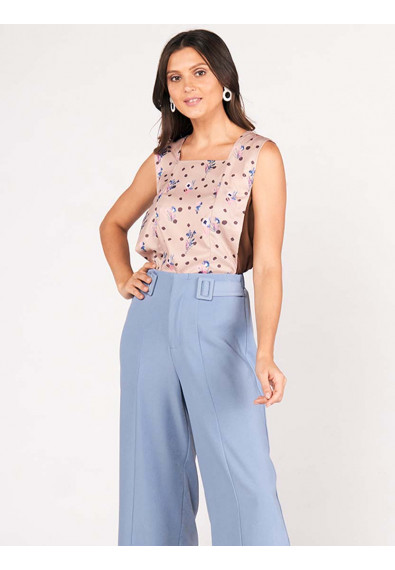 SURVIVE AND THRIVE DHALIA SLEEVELESS TOP