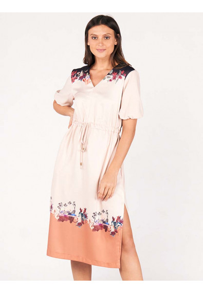 SURVIVE AND THRIVE DEVIANA SHORT SLEEVES DRESS