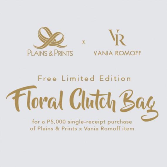 PLAINS & PRINTS X VANIA ROMOFF CLUTCH BAG