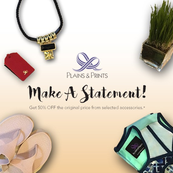 Make A Statement! Get 50% OFF on selected accessories.