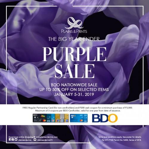Purple Sale